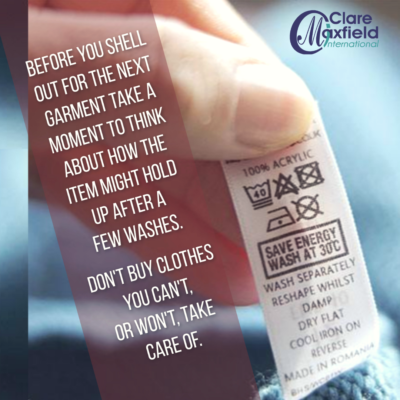 Image of a clothing care label
