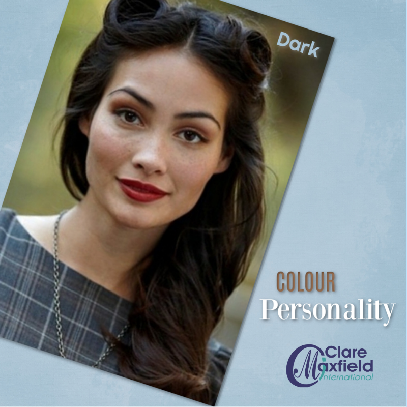 Photo of woman with cool dark colouring