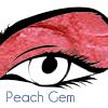 Peach gem eye lip shadow