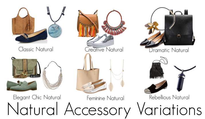 Accessories for variations of the woman with a natural personality, Natural Accessory Variations, Accessories