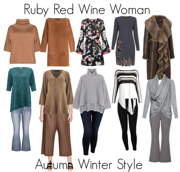 How to Dress the Ruby Red Wine (Oval) Shaped Woman for Autumn Winter